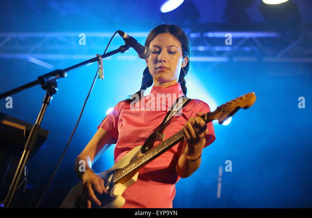 Penrith, Cumbria, UK. 1st August, 2015. Emmy The Great performs live on the Calling Out Stage at Kendal Calling - Stock-Bilder