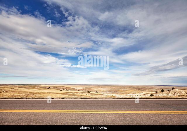 Desert road, travel concept background, USA. - Stock-Bilder