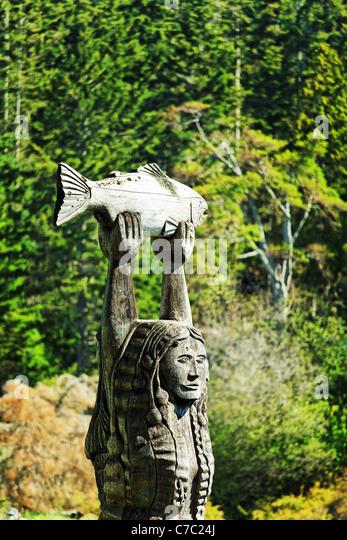 The Maiden of Deception Pass, Deception Pass State Park, Washington, USA - Stock Image