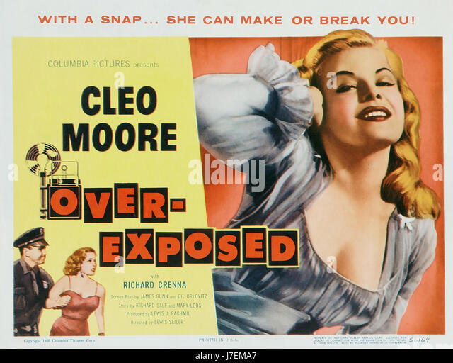 OVER EXPOSED 1956 Columbia film with Cleo Moore as Lily - Stock-Bilder