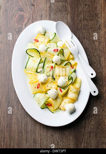 Zucchini salad - Stock Image