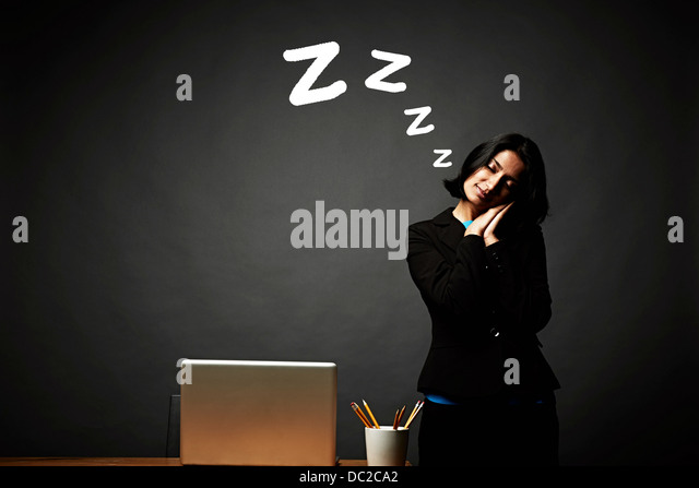 Woman in restful slumber - Stock Image