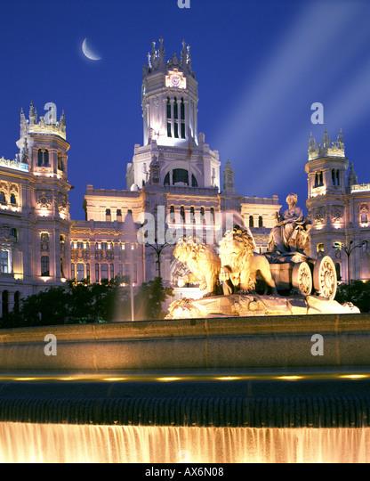 ES - MADRID:  Plaza de Cibeles - Stock Image