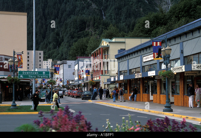 Alaska juneau historic district - Stock Image