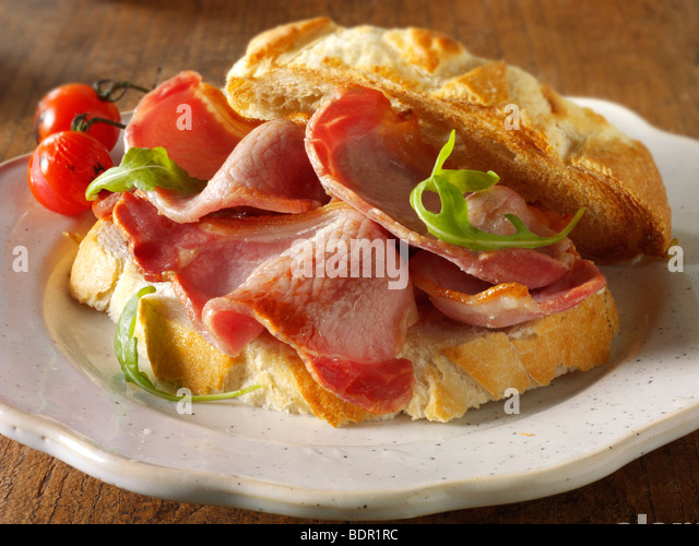 Bacon sandwich  - Stock Image
