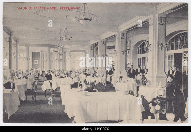 Palace Hotel, Madrid, Spain, Restaurant - Stock Image