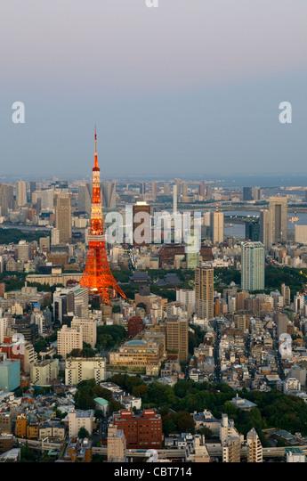 Tokyo Tower Tokyo Japan - Stock Image