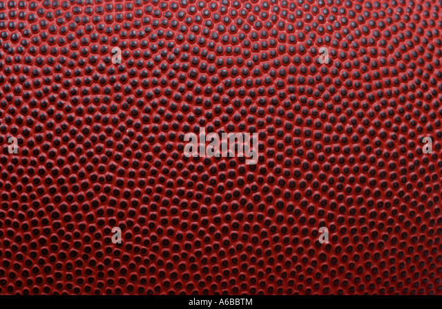 Detailed macro of american football - Stock Image