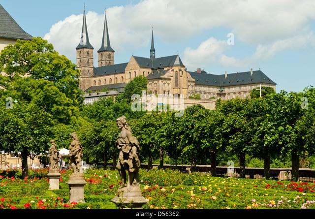 St Michael's Monastery, Bamberg, Franconia, Germany - Stock Image