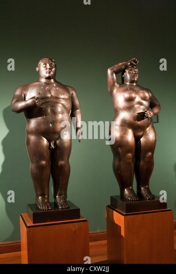 Statues by Fernando Botero Bogota Colombia - Stock Image