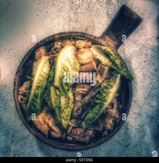 Malaysian Bak Kut Teh meaty pork ribs soup - Stock Image