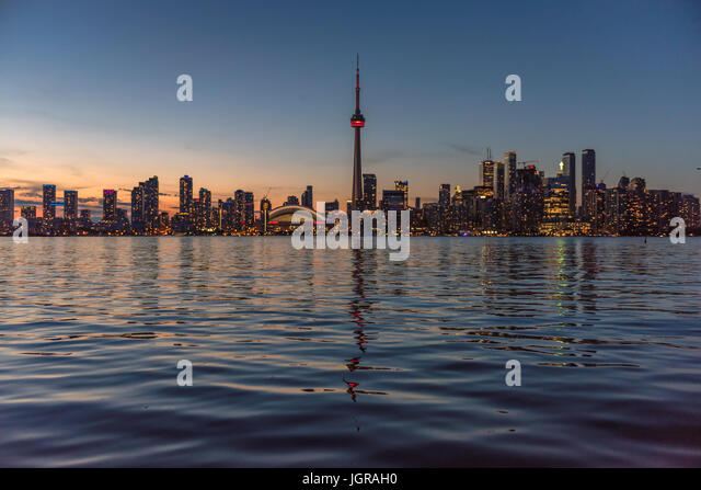 Toronto skyline at  sunset, Canada - Stock Image