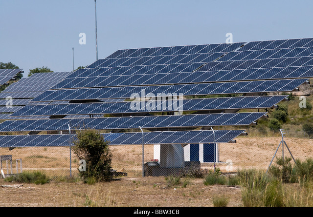 Solar energy centre in the Zamora province, Spain - Stock Image