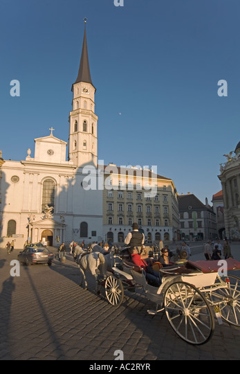 Vienna Michaelerplatz Fiaker - Stock Image