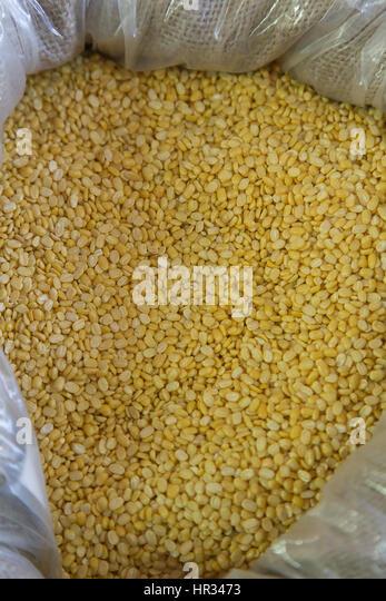 Green soy peeled - Stock Image