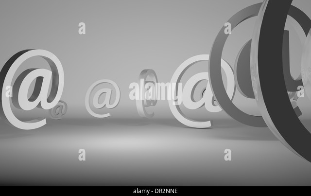 Signs in chrome over pure white background - Stock Image