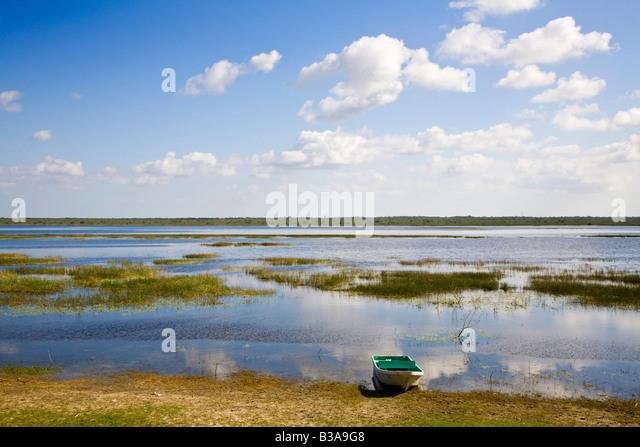 Belize, Crooked Tree Wildlife Sanctuary - Stock Image