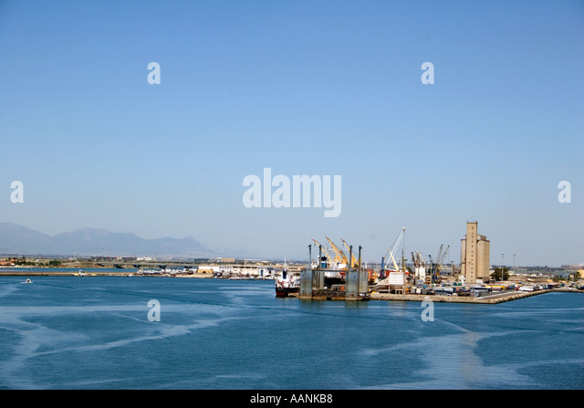 Cagliari Port Sardinia landmark symbol holiday vacation destination outside outdoor outdoors coast coastal destination - Stock Image