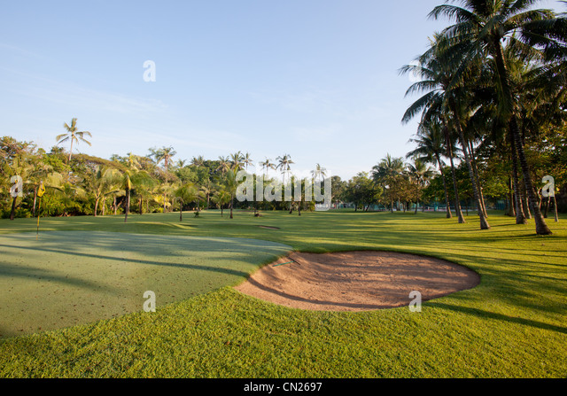 Golf course Bali Indonesia - Stock Image