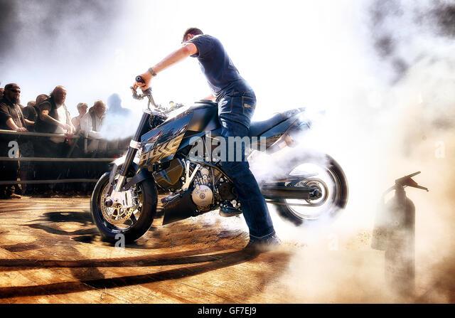 Motorcycle Burnout Stock Photos Motorcycle Burnout Stock