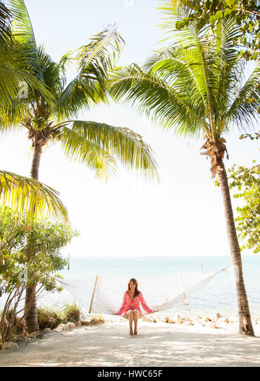 woman on vacation - Stock Image