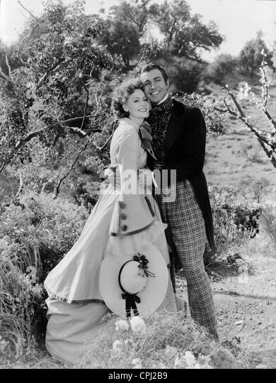Greta Garbo and Robert Taylor in 'The Lady of the Camellias', 1937 - Stock-Bilder