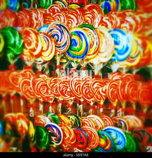 Sweet - shop full of candy - Stock Image