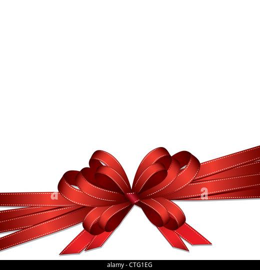 bow isolated on white background - Stock Image