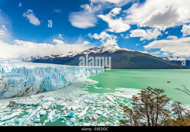 Perito Moreno Glacier in the Los Glaciares National Park, Argentina. - Stock Image