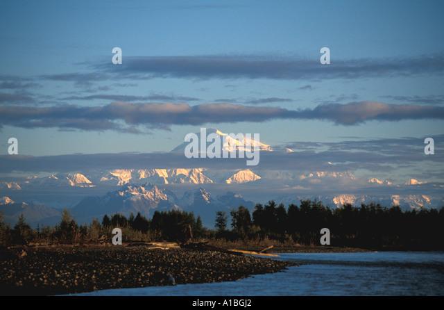 Alaska Mount McKinley  Denali - Stock Image