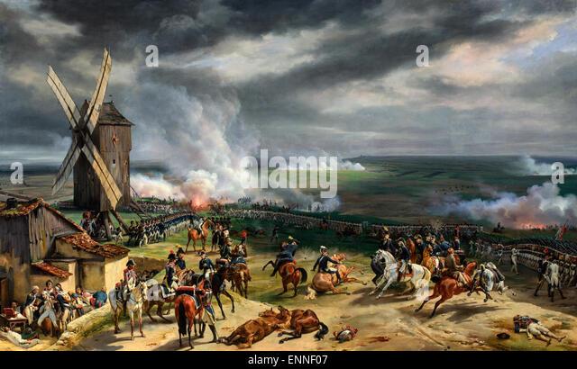 The Battle of Valmy, September 20th, 1792.  Bataille de Valmy  Horace Vernet - Stock Image