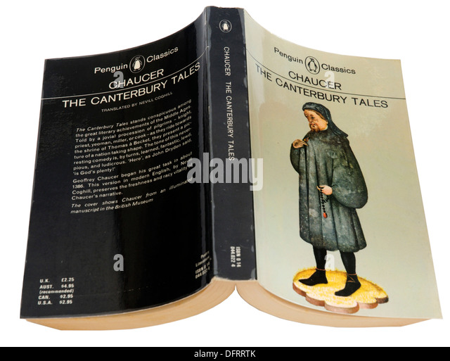 Canterbury Tales by Geoffrey Chaucer - Stock Image