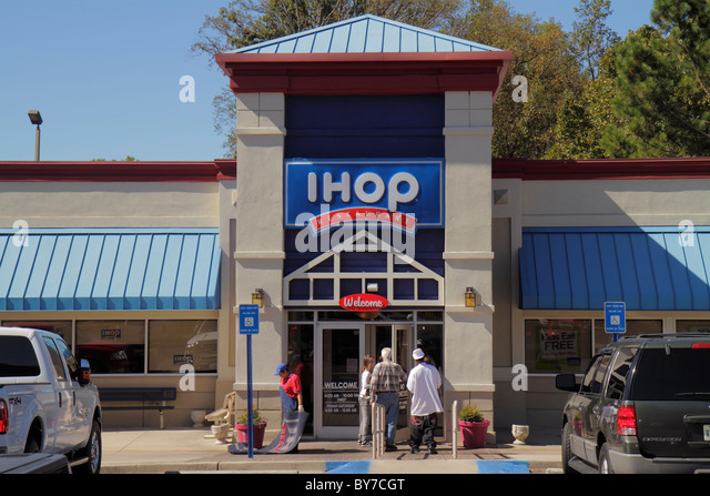 Georgia Gainesville IHOP International House of Pancakes restaurant chain franchise business breakfast foods logo - Stock Image