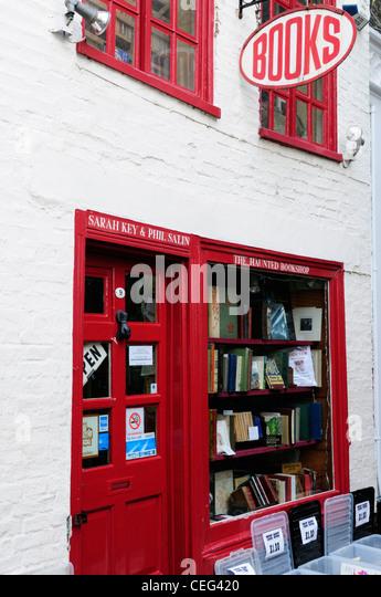 The Haunted Bookshop, St Edwards Passage, Cambridge, England, UK - Stock Image