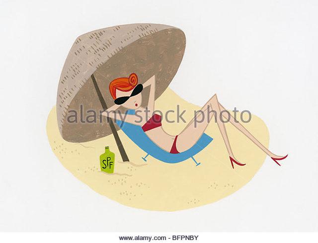 Sunbather - Stock-Bilder