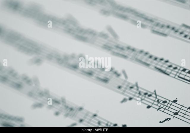 Sheet Music, Close Up. - Stock-Bilder