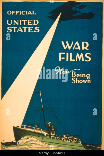 2 G55 P1 1917 56 WW I USA War Films Poster 1917 History World War I Propaganda Official United States War Films - Stock Image