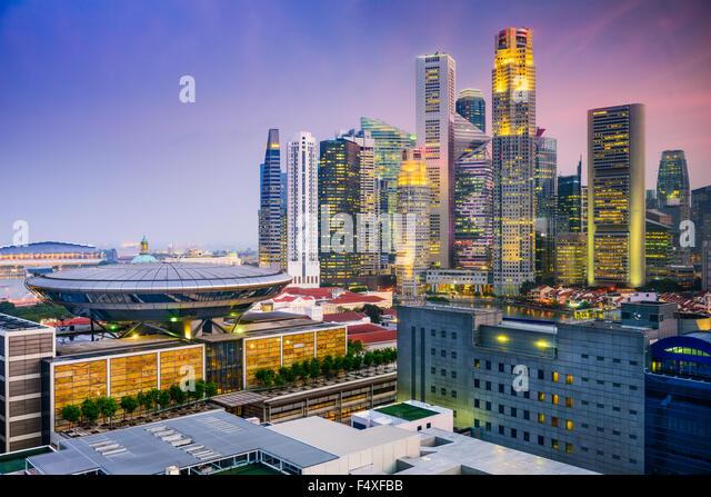 Singapore skyline. - Stock Image