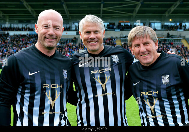 Newcastle Legends v Manchester Select at Kingston Park on Sunday October 9th 2016 -Charity football event - Stock Image