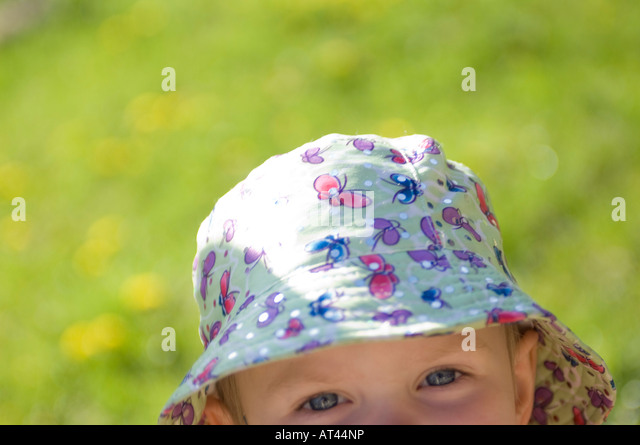 Child with hat - Stock Image