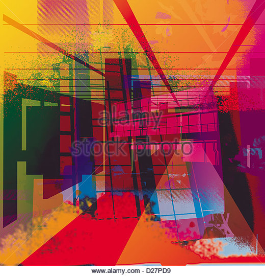 Multicolored abstract of structures - Stock Image