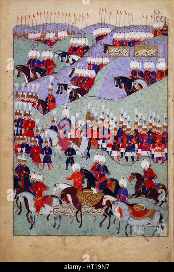 Funeral of Sultan Suleyman the Magnificent. (History of Sultan Suleyman), 1579. Artist: Anonymous - Stock Image