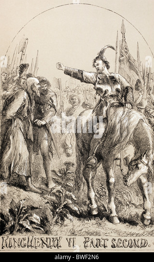 Illustration for King Henry VI, Part Two by William Shakespeare. - Stock Image