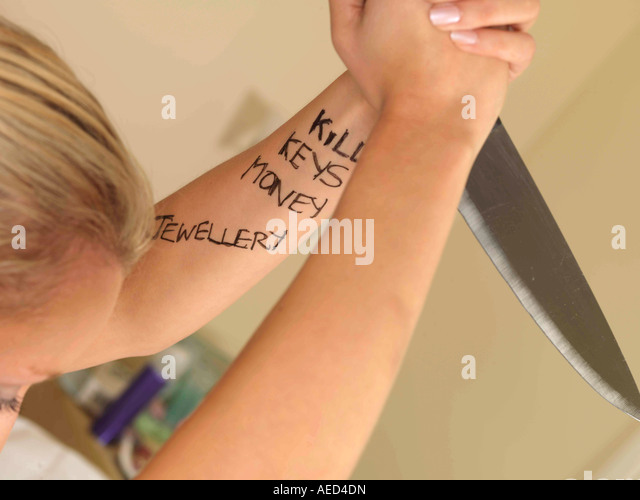 Violent Teenager Model Released - Stock Image