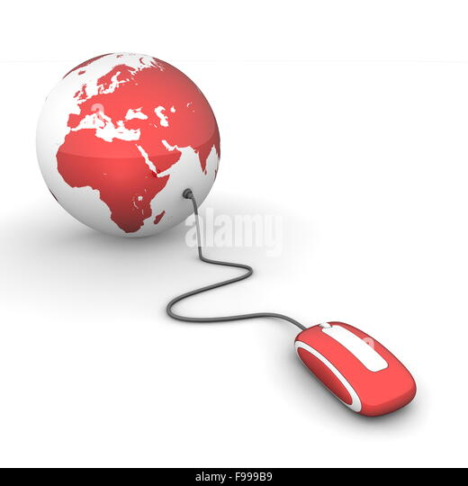 Surf the World - Glossy Red - Stock-Bilder