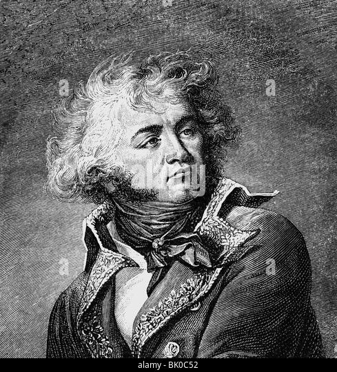 Kléber, Jean Baptiste, 9.3.1753 - 14.6.1800, French general, portrait, wood engraving after painting by Jean - Stock-Bilder