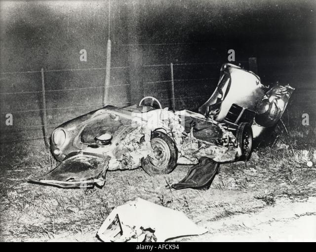 JAMES DEAN died in this Porsche Spyder on 30 Septem ber 1955 - Stock Image
