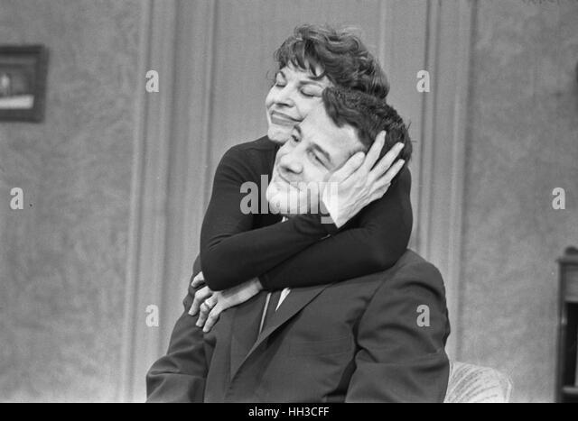 Rocky Graziano and Martha Raye - Stock Image