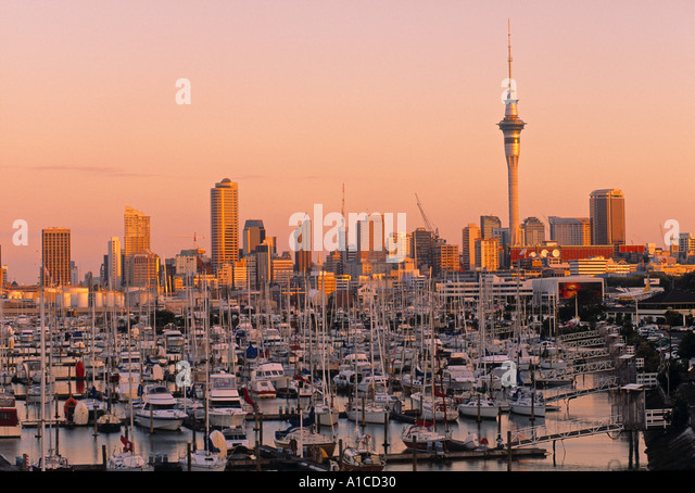 Waitemata Harbour, Auckland, New Zealand - Stock Image