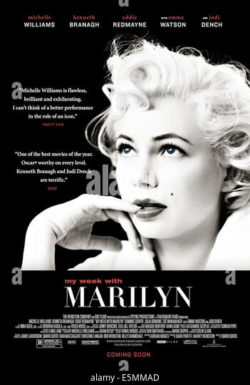 MY WEEK WITH MARILYN, Michelle Williams as Marilyn Monroe on US poster art, 2011, ph: Brigitte Lacombe/©The - Stock Image